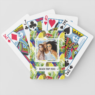 Add Your Name   Parrots And Tropical Fruit Bicycle Playing Cards