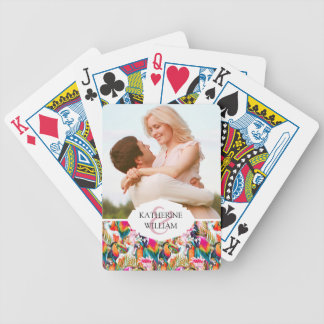 Add Your Name   Parrots & Palm Leaves Poker Deck