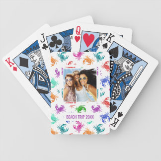 Add Your Name | Pattern Of Crabs Bicycle Playing Cards
