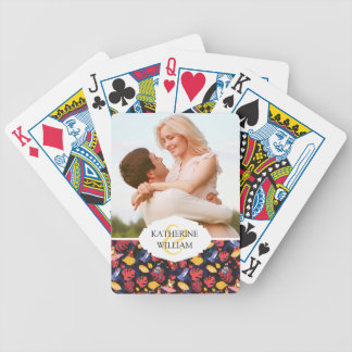 Add Your Name   Pattern Of The Lovers Frogs Bicycle Playing Cards