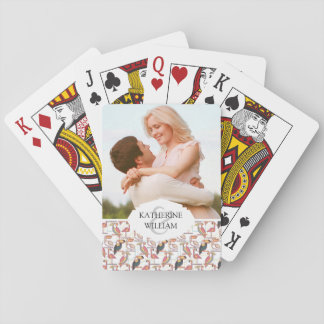 Add Your Name   Pattern With Tropical Birds Playing Cards