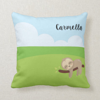 Add Your Name & Personalize the Sleepy Sloth Cushion