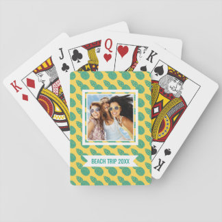 Add Your Name   Pineapple Pattern Playing Cards