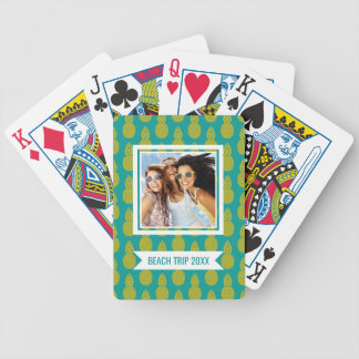 Add Your Name | Pineapple Tropical Fruit Bicycle Playing Cards