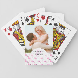Add Your Name | Pink Flamingos Playing Cards