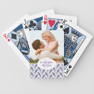 Add Your Name | Purple Parrots Bicycle Playing Cards
