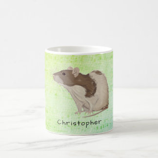 Add Your Name Rat Design Coffee Mug