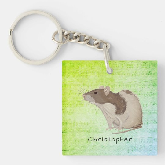 Add Your Name Rat Design Key Ring