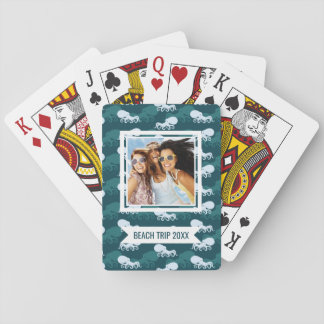 Add Your Name | Rows Of Octopus Pattern Playing Cards