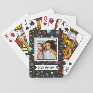 Add Your Name | Sea Critters Pattern Playing Cards