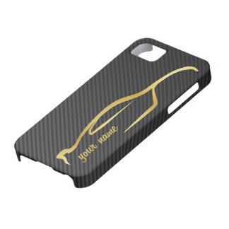add your name Skyline Gold Silhouette Logo iPhone 5 Cases