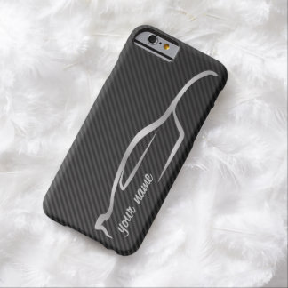 """""""add your name"""" Skyline Silver Silhouette Logo Barely There iPhone 6 Case"""