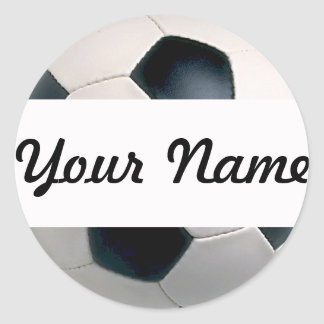 Add Your Name Soccer Ball Stickers