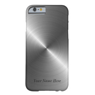 Add Your Name Steel Metal Look iPhone 6 case Barely There iPhone 6 Case