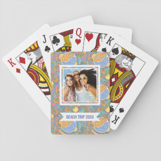 Add Your Name | Surf Rider Pattern Playing Cards