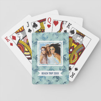 Add Your Name | Tie Dye Pattern Of Crabs Playing Cards