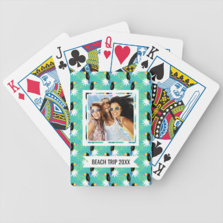 Add Your Name | Toucans On Teal | Bicycle Playing Cards