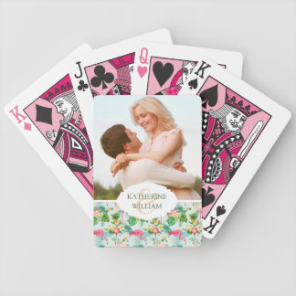 Add Your Name | Tropical Flowers And Birds Bicycle Playing Cards