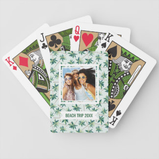 Add Your Name | Tropical Foxtail Palm Bicycle Playing Cards