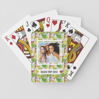 Add Your Name | Tropical Parrots Playing Cards