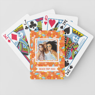 Add Your Name | Tropical Sailboat Pattern Bicycle Playing Cards