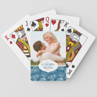 Add Your Name | Tropical Sea Pattern Playing Cards