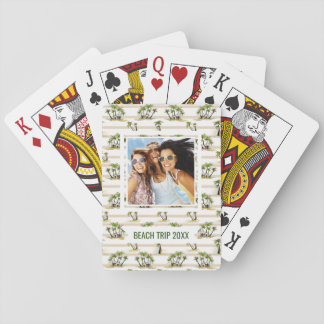Add Your Name | Tropical Shack And Palms Playing Cards