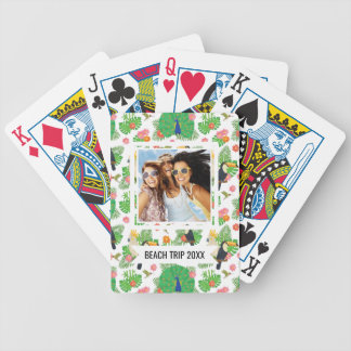 Add Your Name | Tucan And Peacock Pattern Bicycle Playing Cards