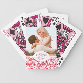 Add Your Name   Watercolor Flamingo In Watercolors Poker Deck