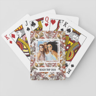 Add Your Name | Watercolor Sea Life Pattern 2 Playing Cards