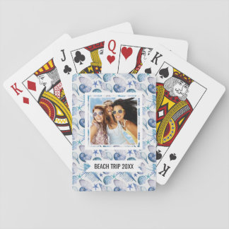 Add Your Name   Watercolor Shells Playing Cards
