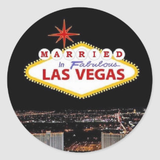 ADD your names Married in Las Vegas Sticker