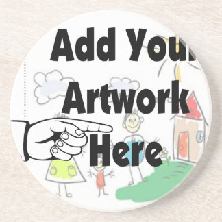 Add your own Artwork or Kid's Artwork for gifts Coaster