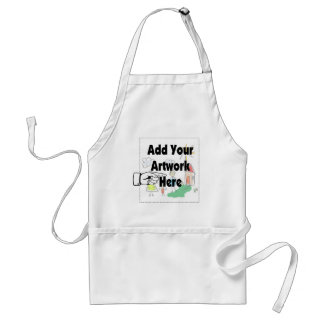 Add your own Artwork or Kid's Artwork for gifts Standard Apron