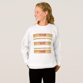 Add your own custom text, faux gold stripes sweatshirt