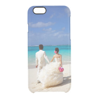 Add your own engagement or wedding photo clear iPhone 6 plus case