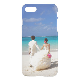 Add your own engagement or wedding photo clear iPhone 7 case