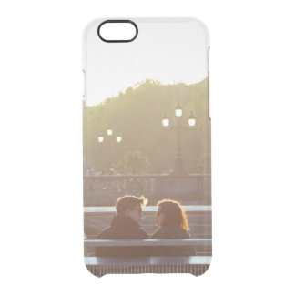 Add your own engagement save the date couple clear iPhone 6 plus case