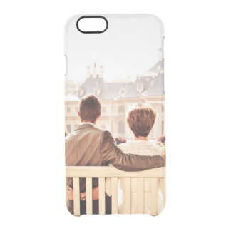 Add your own engagement save the date photo clear clear iPhone 6/6S case
