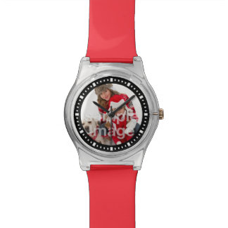 Add Your Own Family Photo Elegant Template Wrist Watch