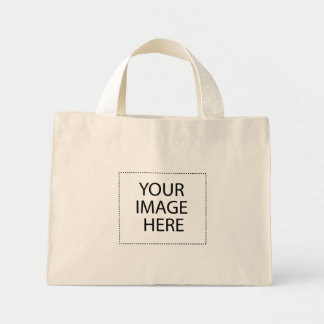 Add Your Own Image and Text Mini Tote Bag