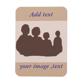 Add your own image, photo and words rectangular photo magnet