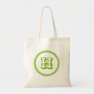 Add Your Own Monogram or Initial Mint Green Tote Bag