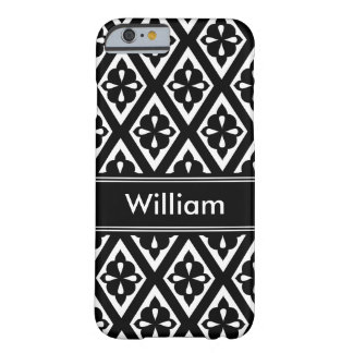 Add Your Own Name Black & White Patterned Barely There iPhone 6 Case
