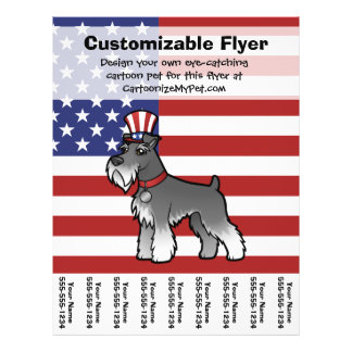 Add Your Own Pet and Flag 21.5 Cm X 28 Cm Flyer