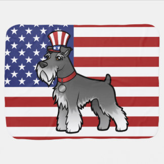 Add Your Own Pet and Flag Baby Blankets
