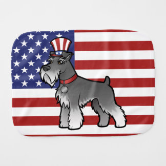 Add Your Own Pet and Flag Burp Cloth