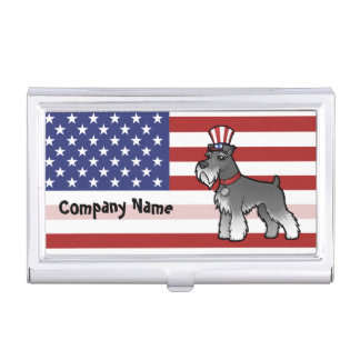 Add Your Own Pet and Flag Business Card Holder