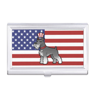 Add Your Own Pet and Flag Business Card Holders