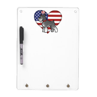 Add Your Own Pet and Flag Dry Erase Board